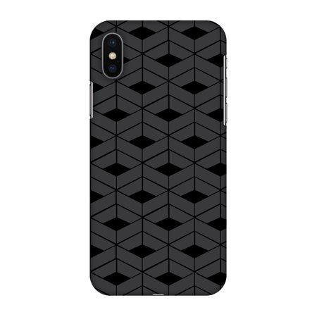 iPhone X Case, Premium Handcrafted Designer Hard Shell Snap On Case Printed Back Cover with Screen Cleaning Kit for iPhone X, Slim, Protective - Carbon Fibre Redux -
