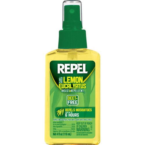 Repel Lemon Eucalyptus Natural Insect Repellent Pump, 4 ounces