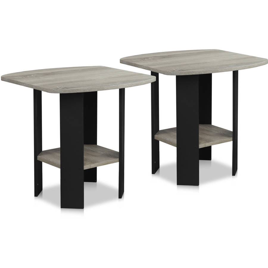 Furinno Simple Design End Table Set Of 2, Multiple Colors