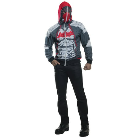 Batman Arkham Knight Red Hood Zip-Up Hoodie Costume (Arkham City Costumes Halloween)