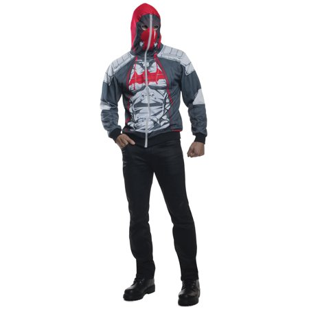 Batman Arkham Knight Red Hood Zip-Up Hoodie - Arkham Knight Costume