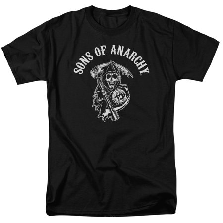 Trevco SONS OF ANARCHY SOA REAPER Black Adult Unisex T-Shirt - Reaper Clothes