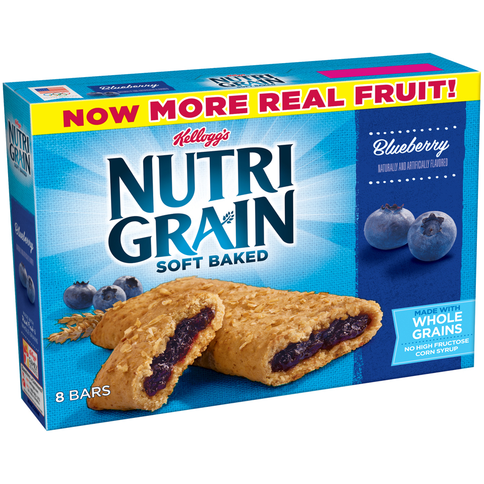 Kellogg's Nutri Grain Soft Baked Breakfast Bars Blueberry - 8 CT