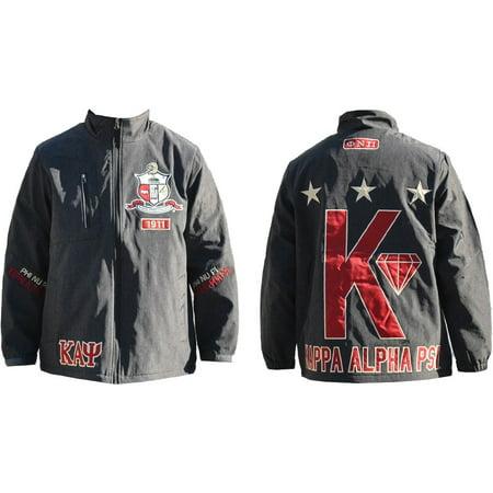 Kappa Alpha Psi Divine 9 S4 Mens Windbreaker Jacket [Charcoal Grey - L]