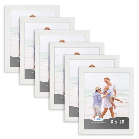 "Icona Bay 8"" x 10"" White Picture Frame, 6 Pack, Exclusives Collection"