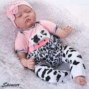 "Spencer Realistic 22"" Reborn Baby Doll Newborn Lifelike Silicone Vinyl Handmade Sleeping Girl Dolls"