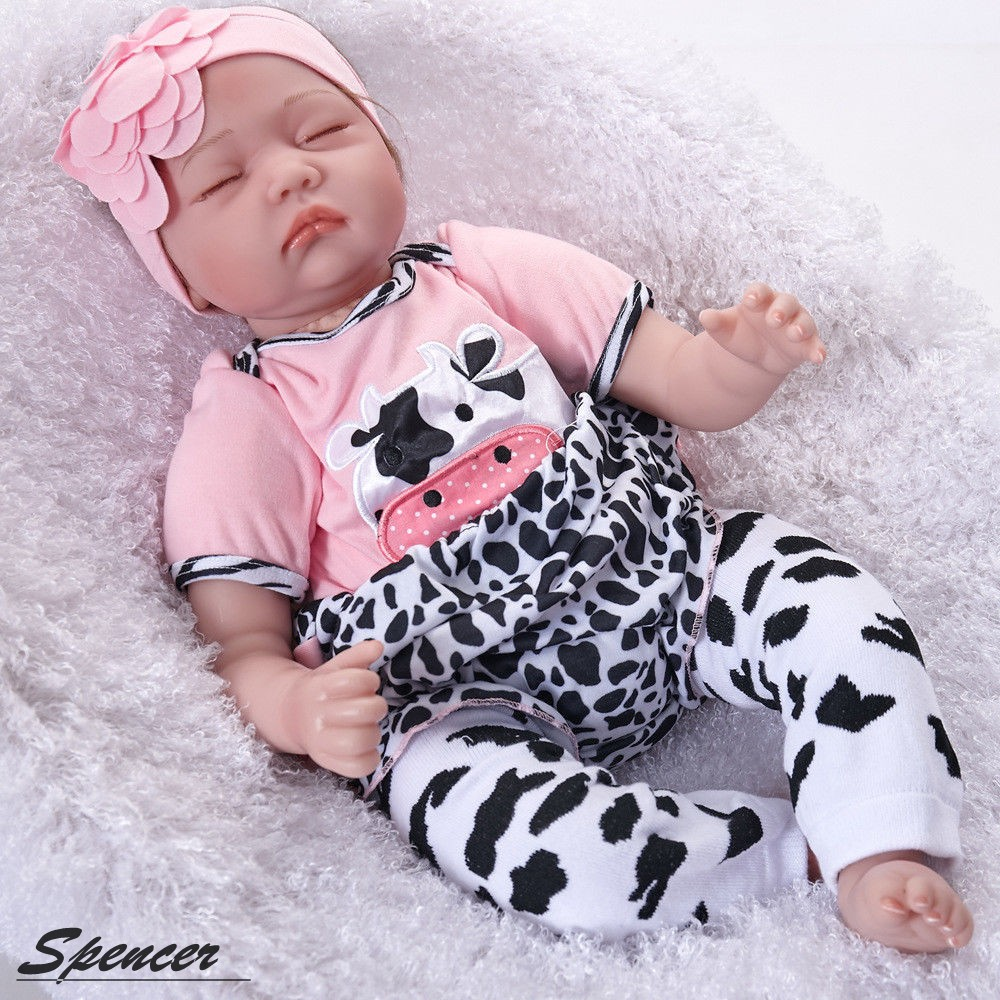 "Spencer Realistic 22"" Reborn Baby Doll Full Body Silicone Vinyl Handmade Sleeping Girl"