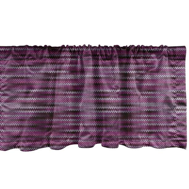 Ambesonne Magenta Window Valance Vintage Knit Pattern Featured Variations Of Pink Tone Nostalgic Vibrant Art Curtain Valance For Kitchen Bedroom Decor With Rod Pocket 54 X 12 Violet Fuchsia Walmart Com