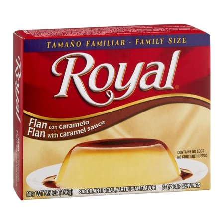 Royal, Family Size, Flan with Caramel Dessert Mix, 5.5oz Box (Pack of 3)