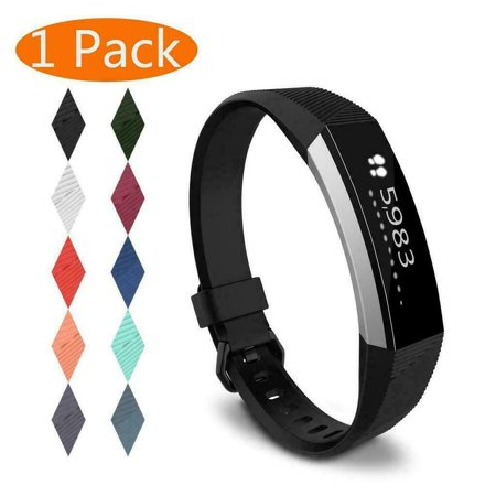 1X Replacement Band Secure Strap Wristband Buckle Bracelet For Fitbit Alta/Alta HR Color:Black Size:L ()