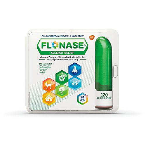Flonase 24 Hr Allergy Relief Nasal Spray 120 Metered Sprays, Multiple Allergies