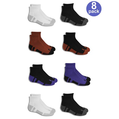 Russell Performance Training Cushioned Ankle Socks, 8 Pairs (Little Boys & Big Boys)