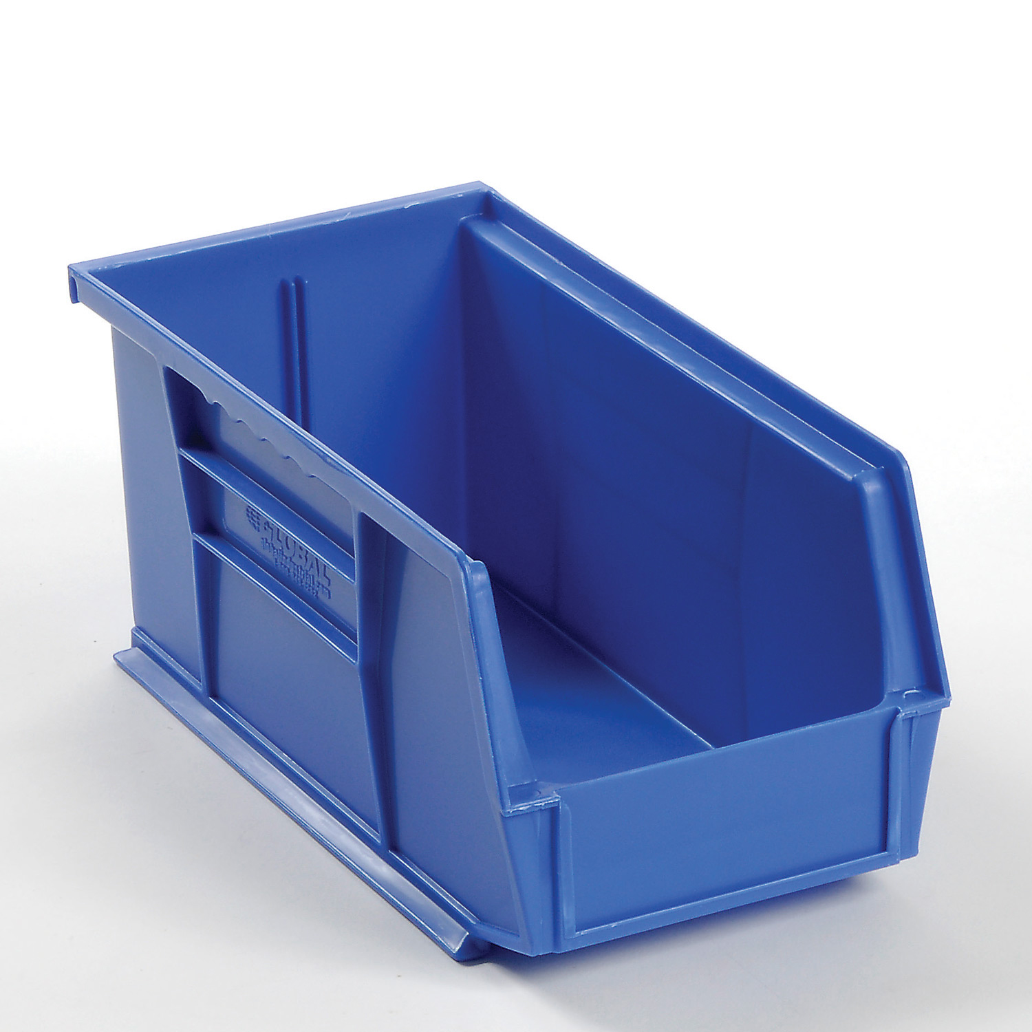 Plastic Stacking And Hanging Parts Bin 5-1/2 x 10-7/8 x 5, Blue, Lot of 12