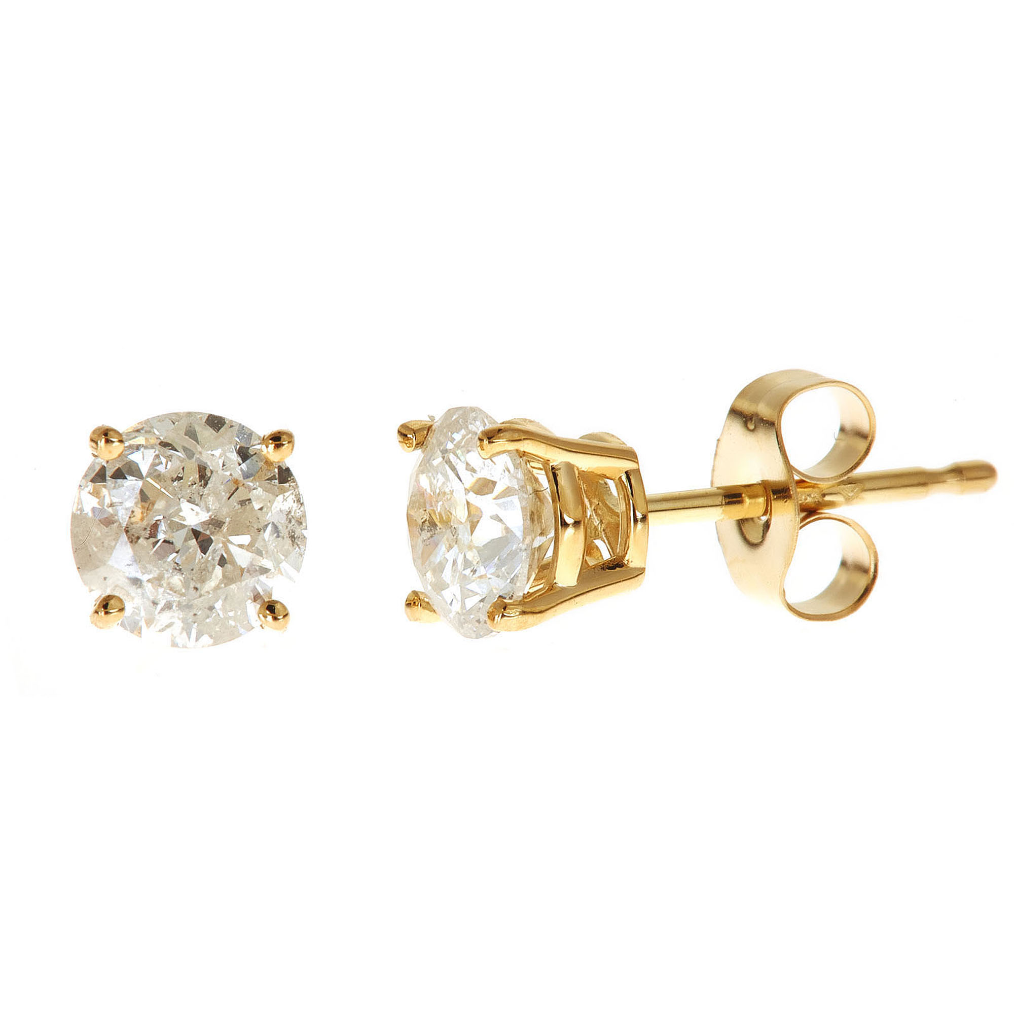 cut fashion earrings princess jewelry gold white diamond gia stud solitaire certified