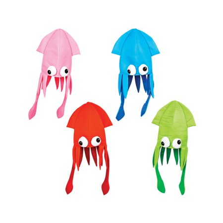 - Novelty Assorted Color Squid Hat Costume Party Hat Cap