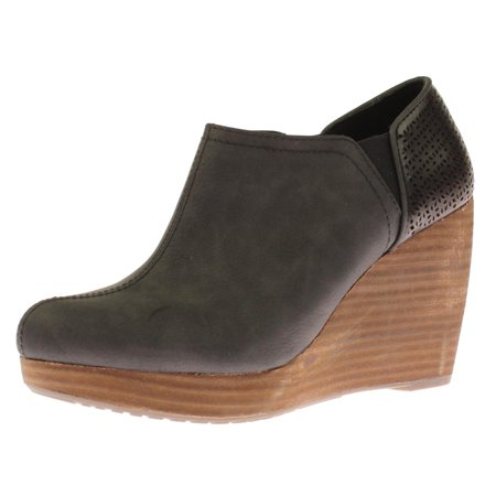 c958bd3d1aa Dr. Scholl s Shoes - Womens Harlow Faux Leather Wedge Booties - Walmart.com