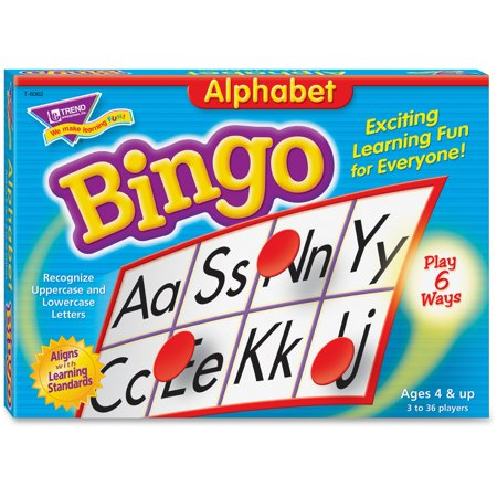 Trend, TEPT6062, Alphabet Bingo Learning Game, 1 Each - Fitness Bingo