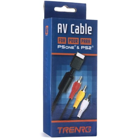 Playstation/PS2/PSX AV to RCA Cable (Bulk Packaging), Connect your Playstation,laystation 2,r PSX to any equipment with RCA composite inputs By by Trenro