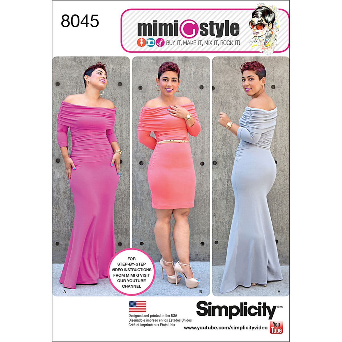 Simplicity Misses' Size 10-18 Mimi G Style Knit Dress Pattern, 1 Each