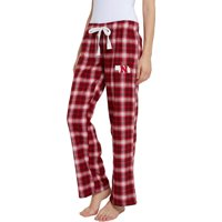 Women's Scarlet/Black Nebraska Cornhuskers Devote Flannel Lounge Pants