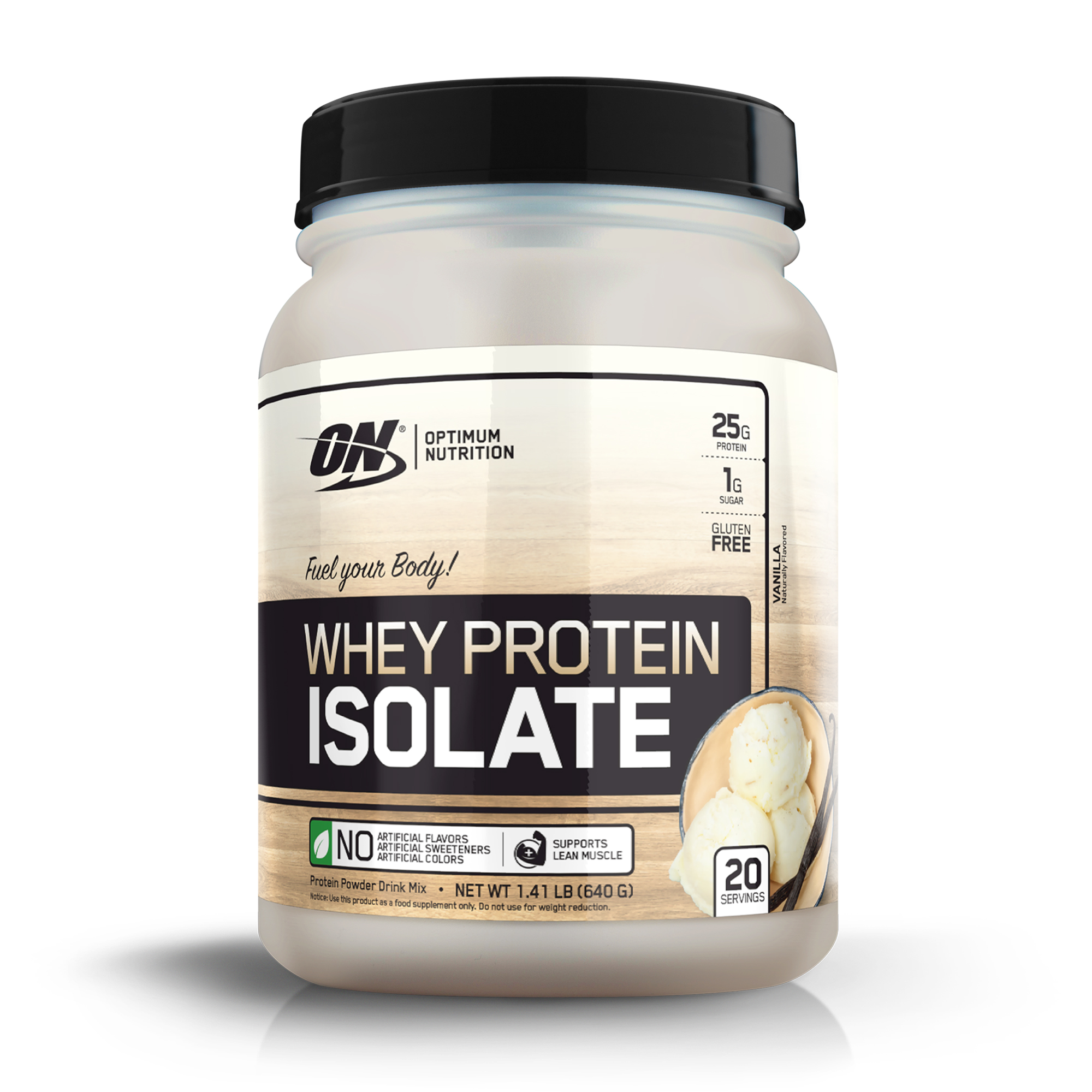 Optimum Nutrition Whey Protein Isolate, Vanilla, 25g Protein, 1.41 Lb