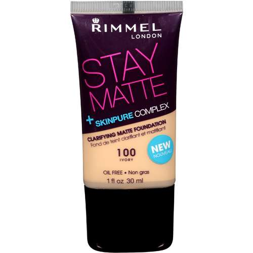 RIMMEL - Stay Matte Clarifying Matte Foundation #100 Ivory - 1 fl. oz. (30 ml)