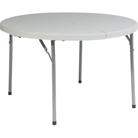 Avenue 6 Office Star Bt48f 48 In  Round Fold In Half Resin Multi Purpose Table