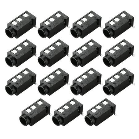 3.5 mm Audio Jack Connector PCB Mount Female Socket 4Pin PJ-320D 15pcs