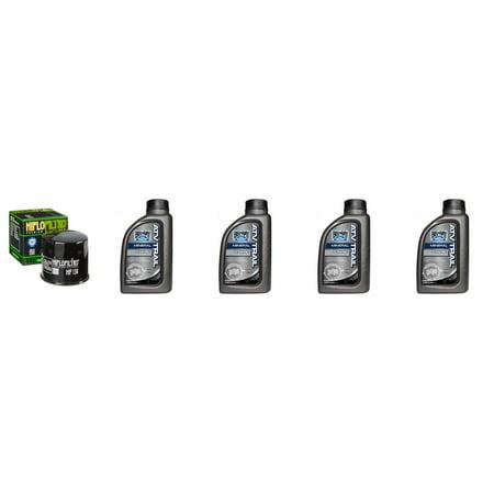 Complete Mineral Engine Oil 10W-40 Change Kit for ATV SUZUKI FOUR WHEELS KLT-A400 FC-K9,L0,L1-L6 King Quad 400 AS Camo - Wheel Oil