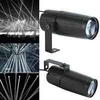 3W White LED Beam Pinspot Light,Mini DJ Spotlight Party Lights Effect Beam Pinspot For KTV Bar Club Party