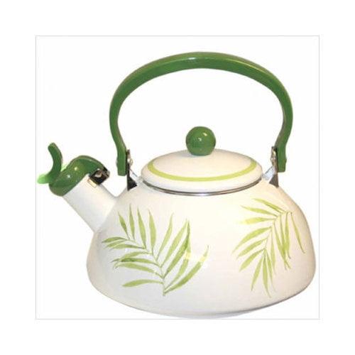Bundle-43 Corelle Square Bamboo Leaf Whistling Tea Kettle 80 oz.