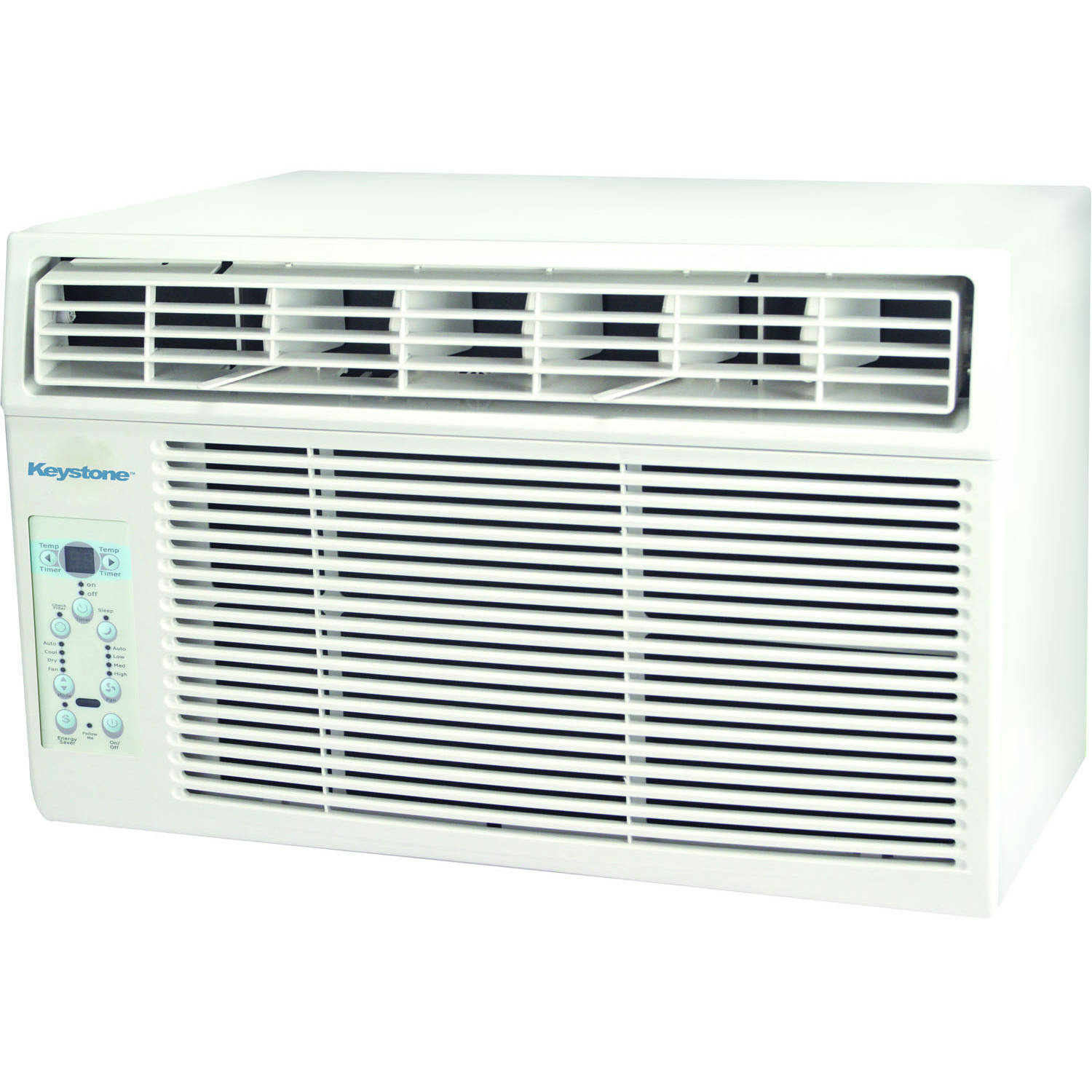 "Keystone KSTAW08B Energy Efficient 8,000-BTU 115V Window-Mounted Air Conditioner with ""Follow Me"" LCD Remote Control"