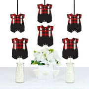 Lumberjack - Baby Bodysuit Decorations DIY Buffalo Plaid Baby Shower or 1st Birthday Party Essentials - Set of 20