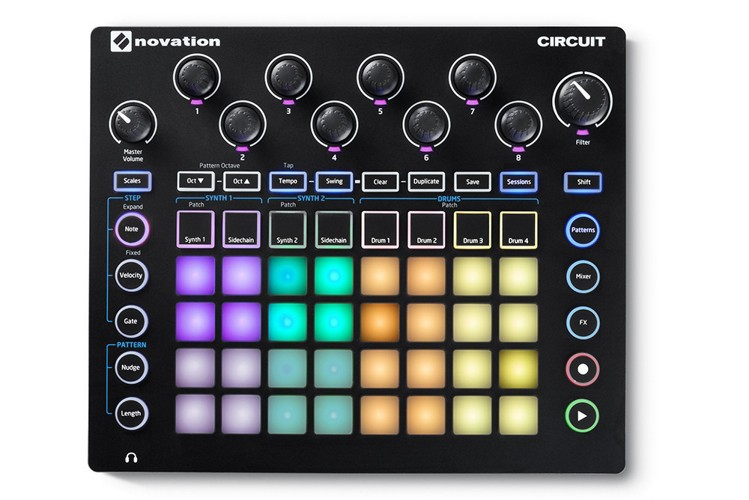 Novation Circuit Drum Machine Grid Based Groove Box w Sample Import by Novation