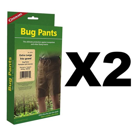 45fa8b5663eb Coghlan s Bug Pants XL Black Unisex Flame Retardant Lightweight Net  (2-Pack)