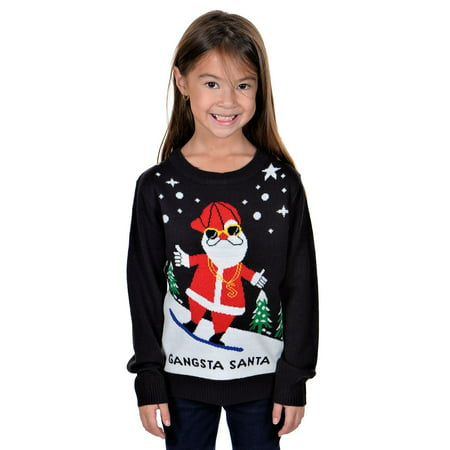 KESIS Children Gangsta Santa Ugly Christmas - Infant Ugly Christmas Sweater