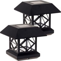 GreenLighting Outdoor Garden Patio Summit Solar Powered Post Cap Light 2 Pack