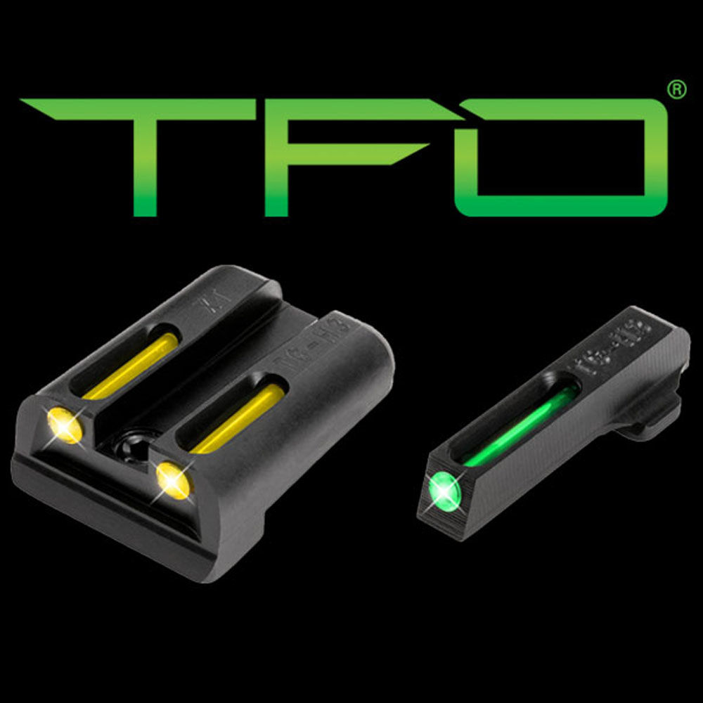 Truglo TG131XTY Brite-Site TFO Fiber Optic Springfield XD Fixed Green/Yellow