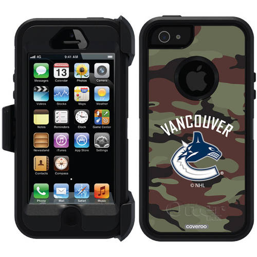 Vancouver Canucks Traditional Camo Design on OtterBox Defender Series Case for Apple iPhone 5/5s