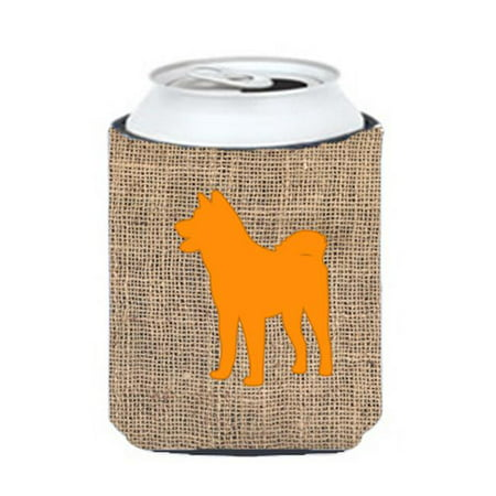Akita Burlap And Orange Can Or Bottle  Hugger - image 1 de 1