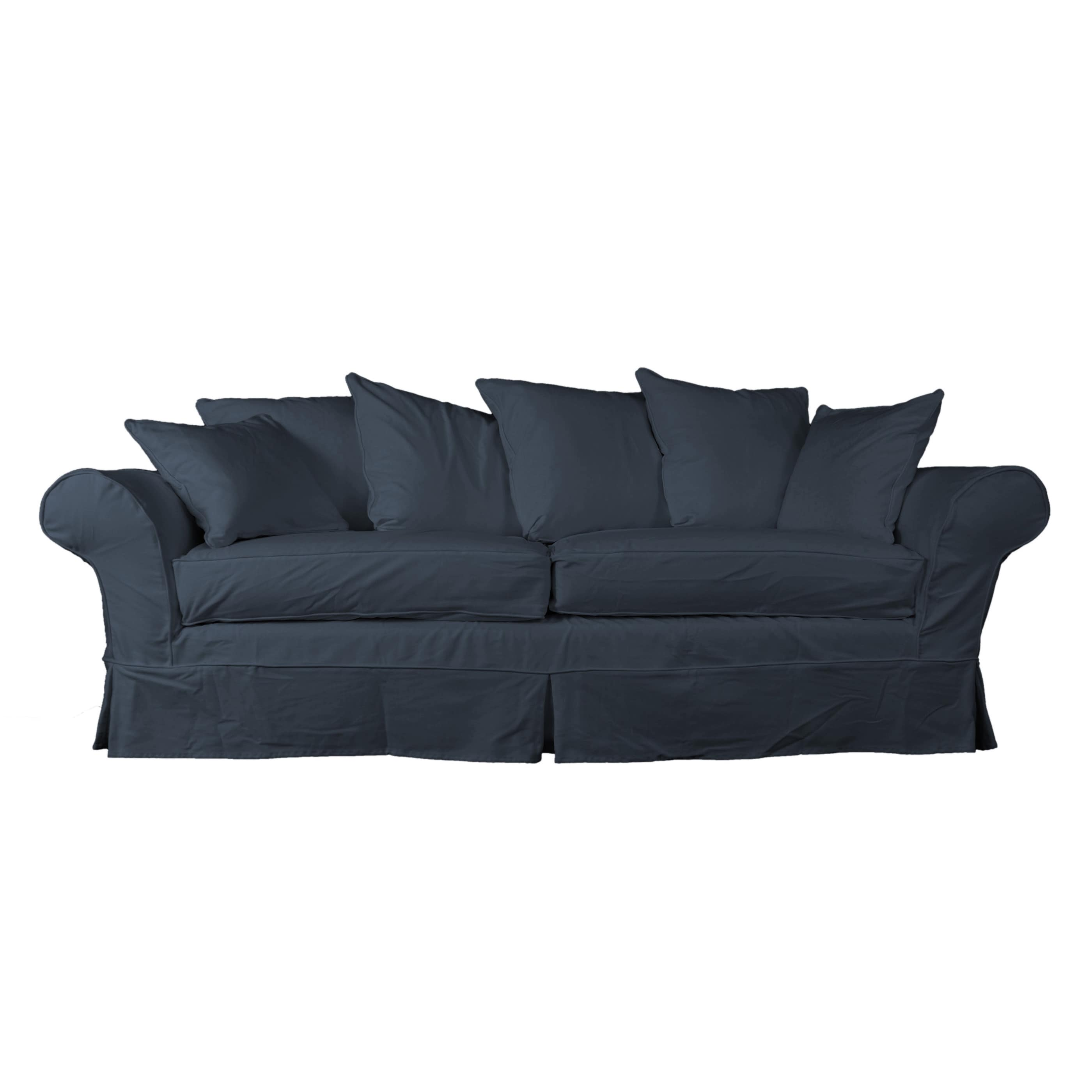 Huntington Industries Eco Friendly Elizabeth Farmhouse Slipcovered Sofa    Walmart.com