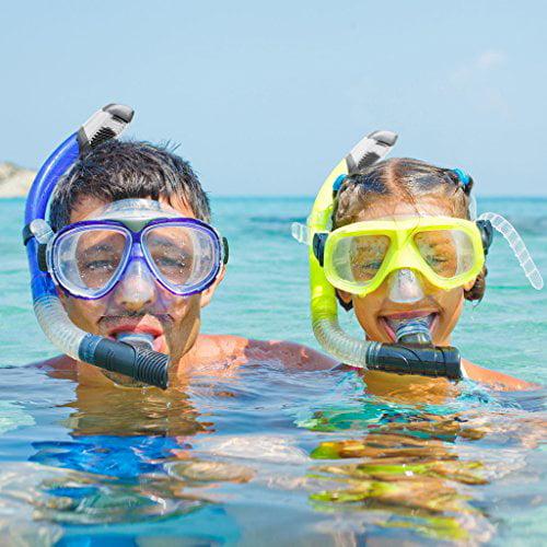 Snorkel Mask Diving Mask Single Lens Frameless diving mask Perfect for Scuba Diving, Snorkeling, Swimming Ivation by Ivation
