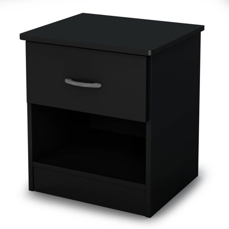 South Shore Libra Night Stand In Pure Black
