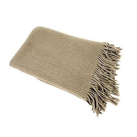 Home Decor Faux Cashmere Soft Cozy Throw Blanket (Khaki)