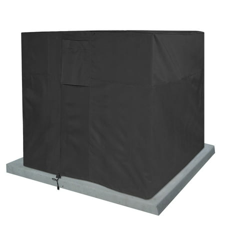 Air Condition Cover Weatherproof Heavy Duty Protector Black ()