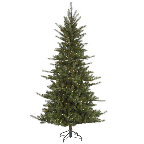 Vickerman Co. Colorado 6.5' Green Slim Spruce Artificial Christmas Tree with 500 LED White Lights with Stand
