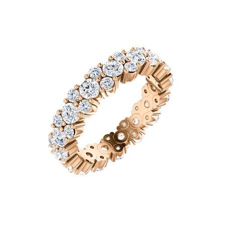 14k Rose Gold 1 3/4 Ct Diamond Anniversary Wedding Eternity Band - Size 4