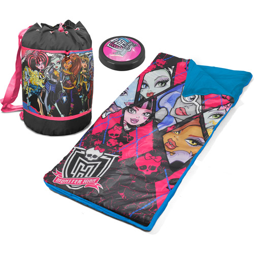 Monster High Sleeping Bag Pushlight and Duffle
