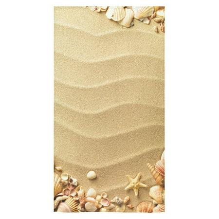 "ZKGK Summer Beach Towel Beach Towel Seashell And Sand Bath Towel Bathroom Shower Towel Bath Wrap 30""X56"" For Body,Hand,Gym,Spa,Home,Hotel Use"