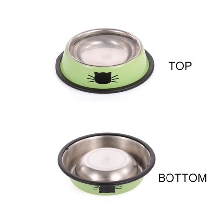 Stainless Steel Pet Bowl Anti Skid Dish Bowl With Cute